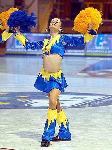 A cheerleader of Delta ICP Kosice